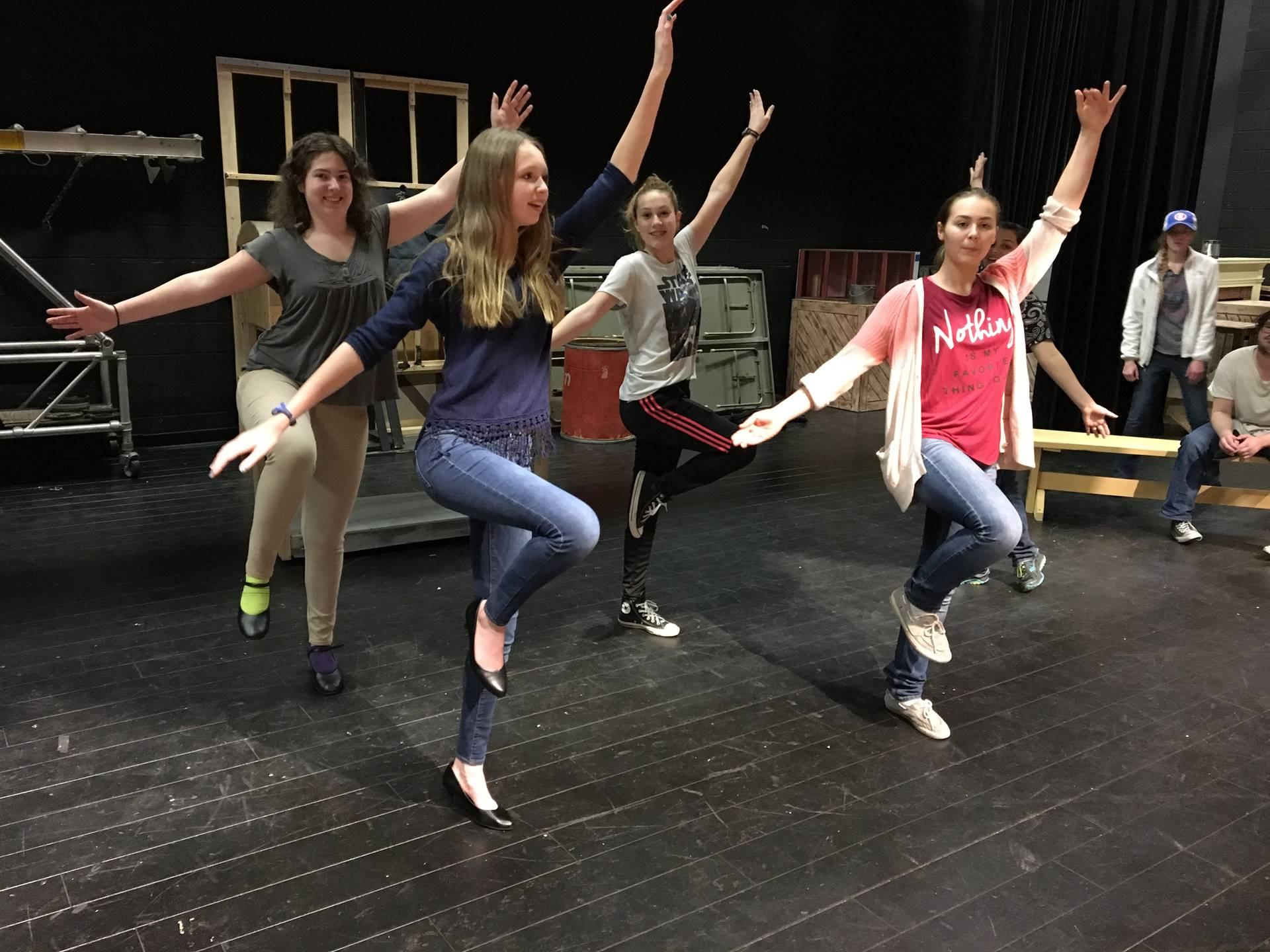 Cinderella dance rehearsal