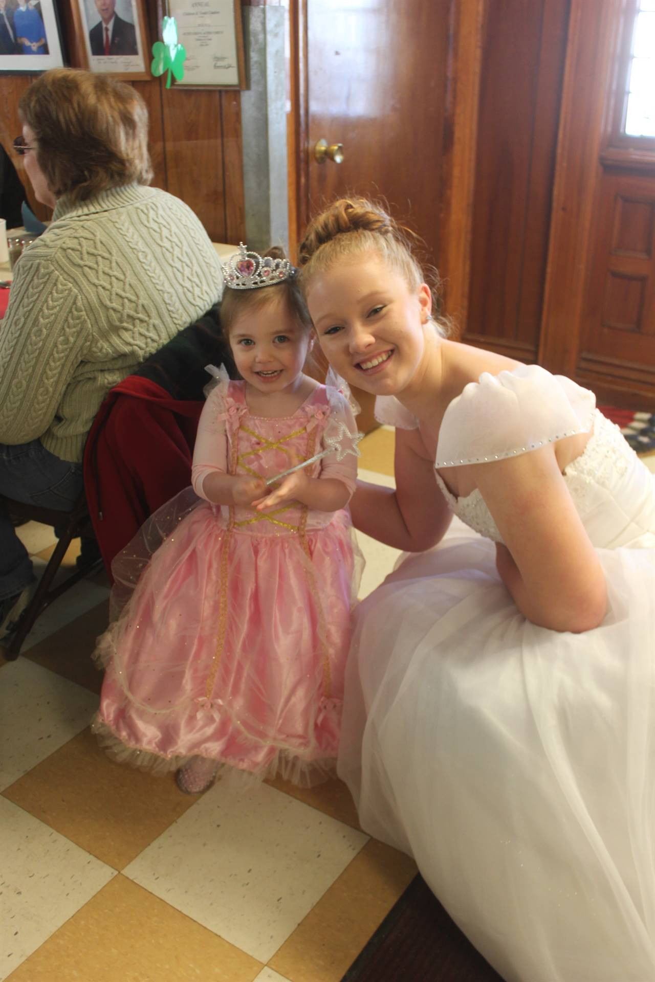 Cinderella with a young princess