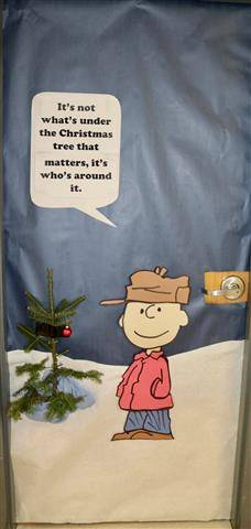 Charlie Brown with small branchless pine tree