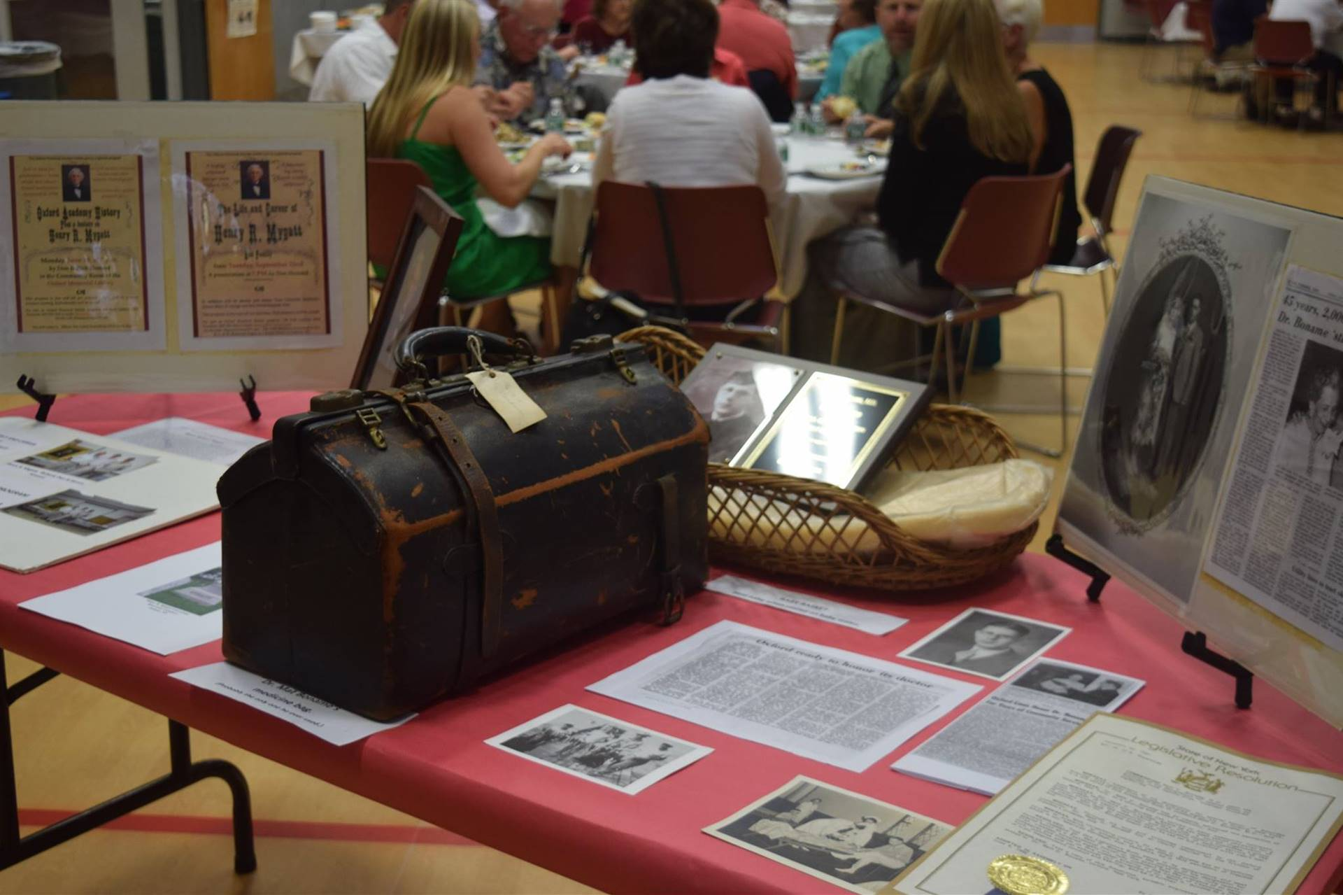 Display of Dr. Boname's medical bag.