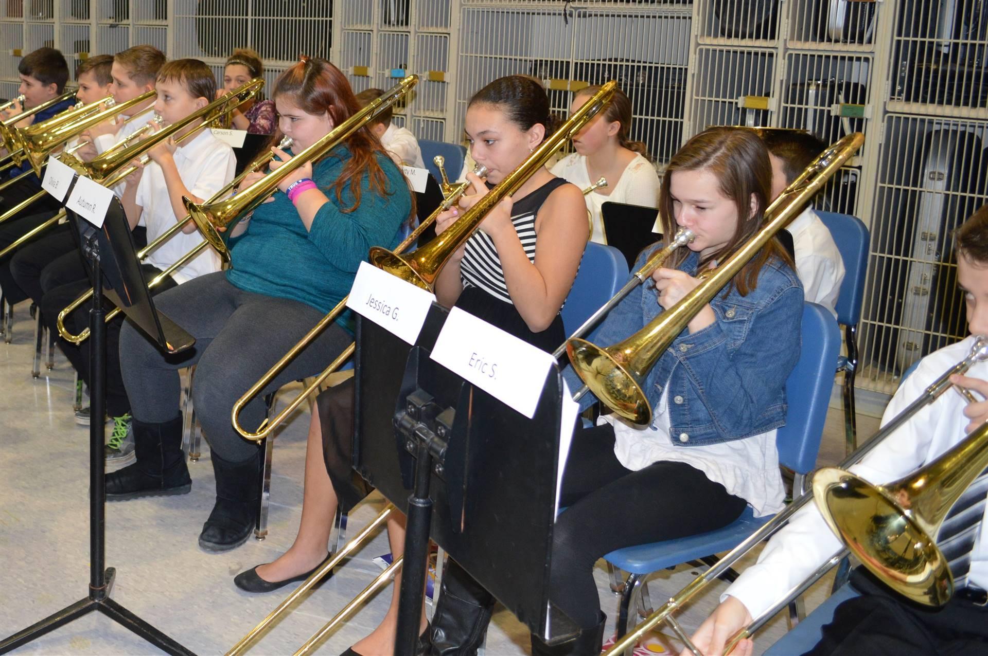 ACAMT Winter 18 Elementary Band trombones