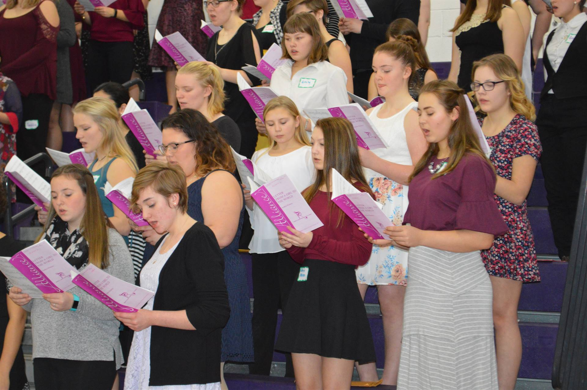ACAMT Winter 18 SSAA choir alto section