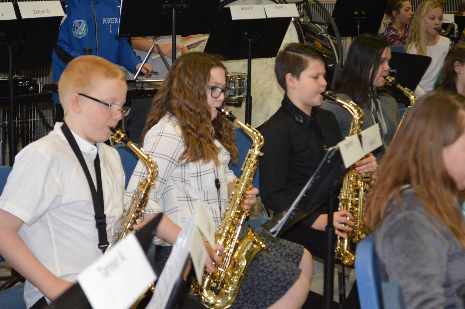 ACAMT Winter 18 Elementary Band saxophones