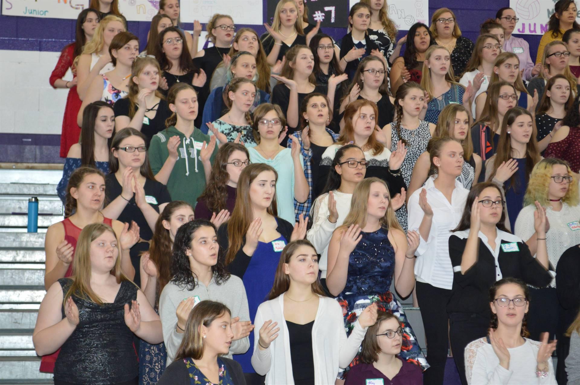 ACAMT Winter 18 SSAA choir soprano section