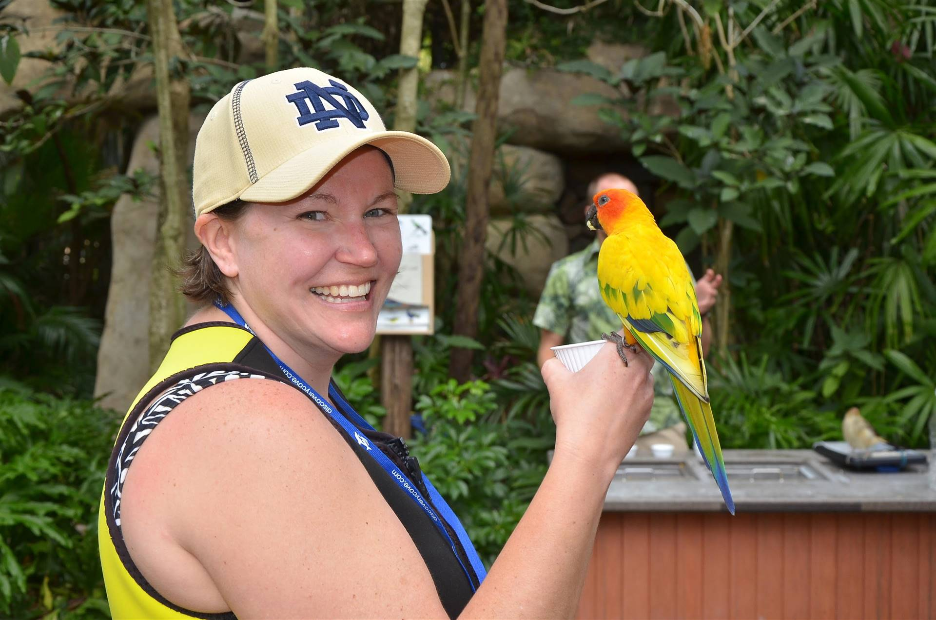 Picture of myself and a parrot