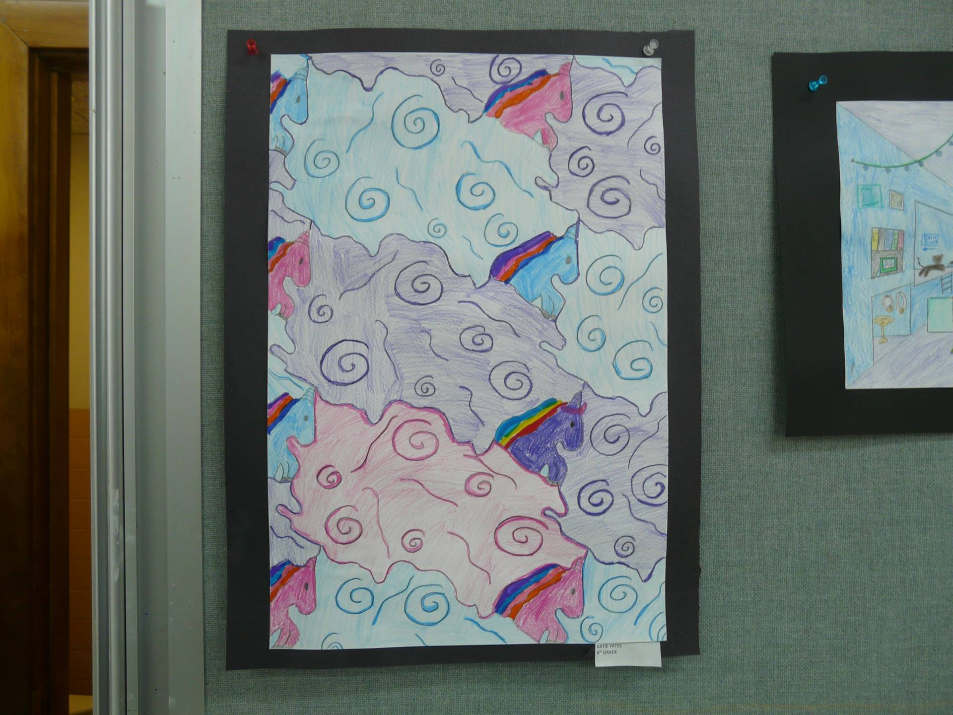 abstract art, pink,  purple, blue