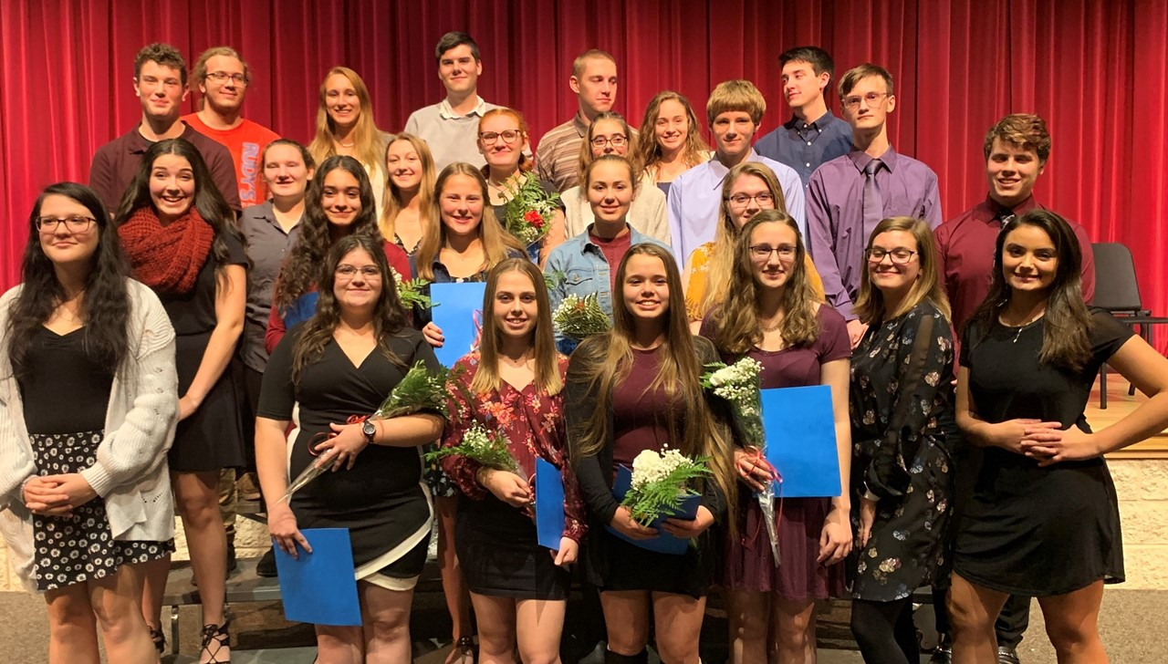 National Honor Society Members - girls and boys