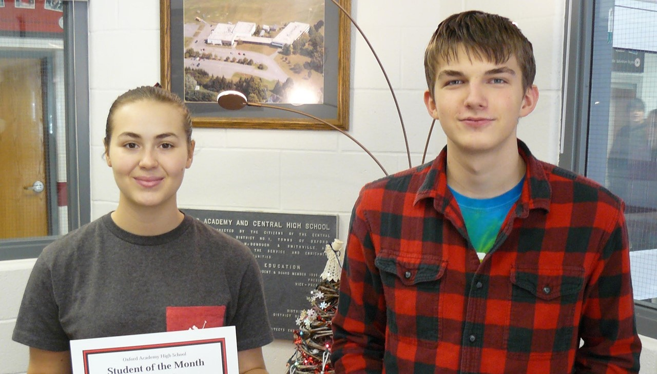 High School Students of the Month - boy and girl