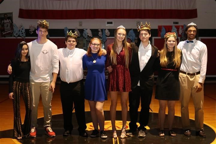 snowball dance king, queen, princes and princesses