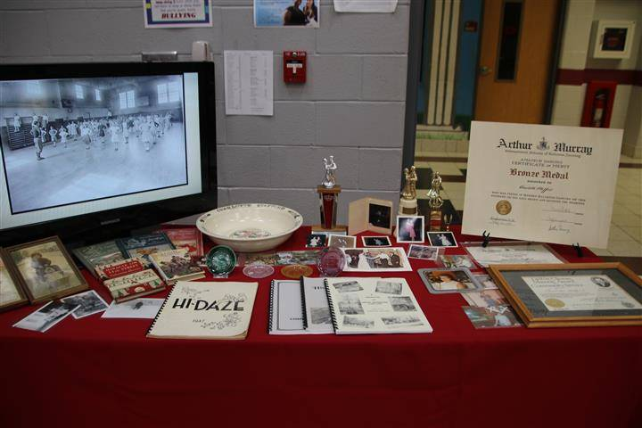 Display of material from one honoree