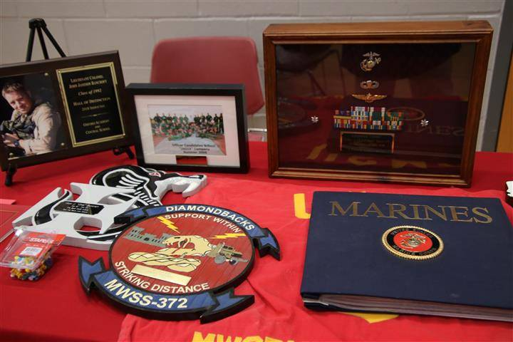 Display of material from honoree