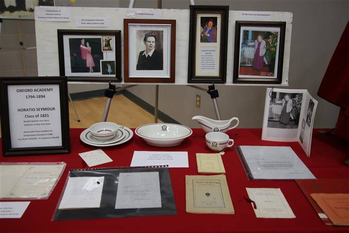 Display of material from Oxford Academy