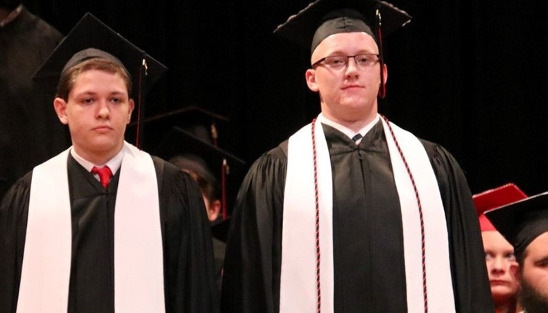 Picture of two graduating boys