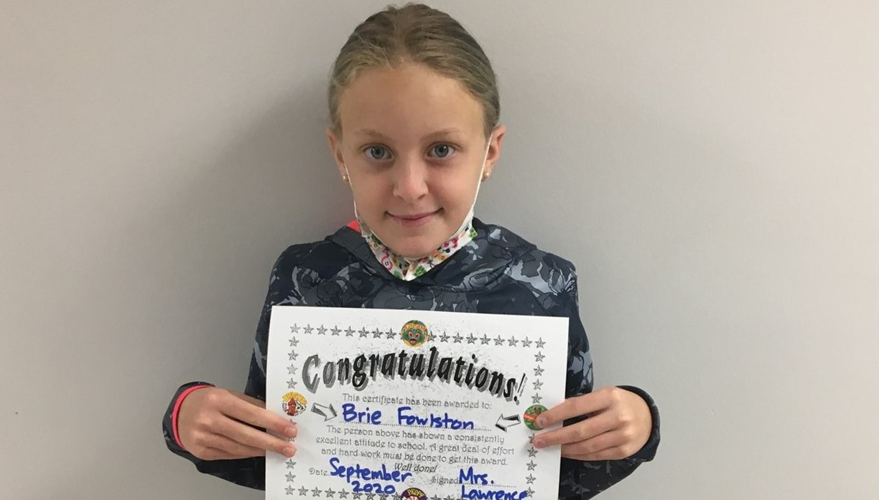 3rd grade female student of the month