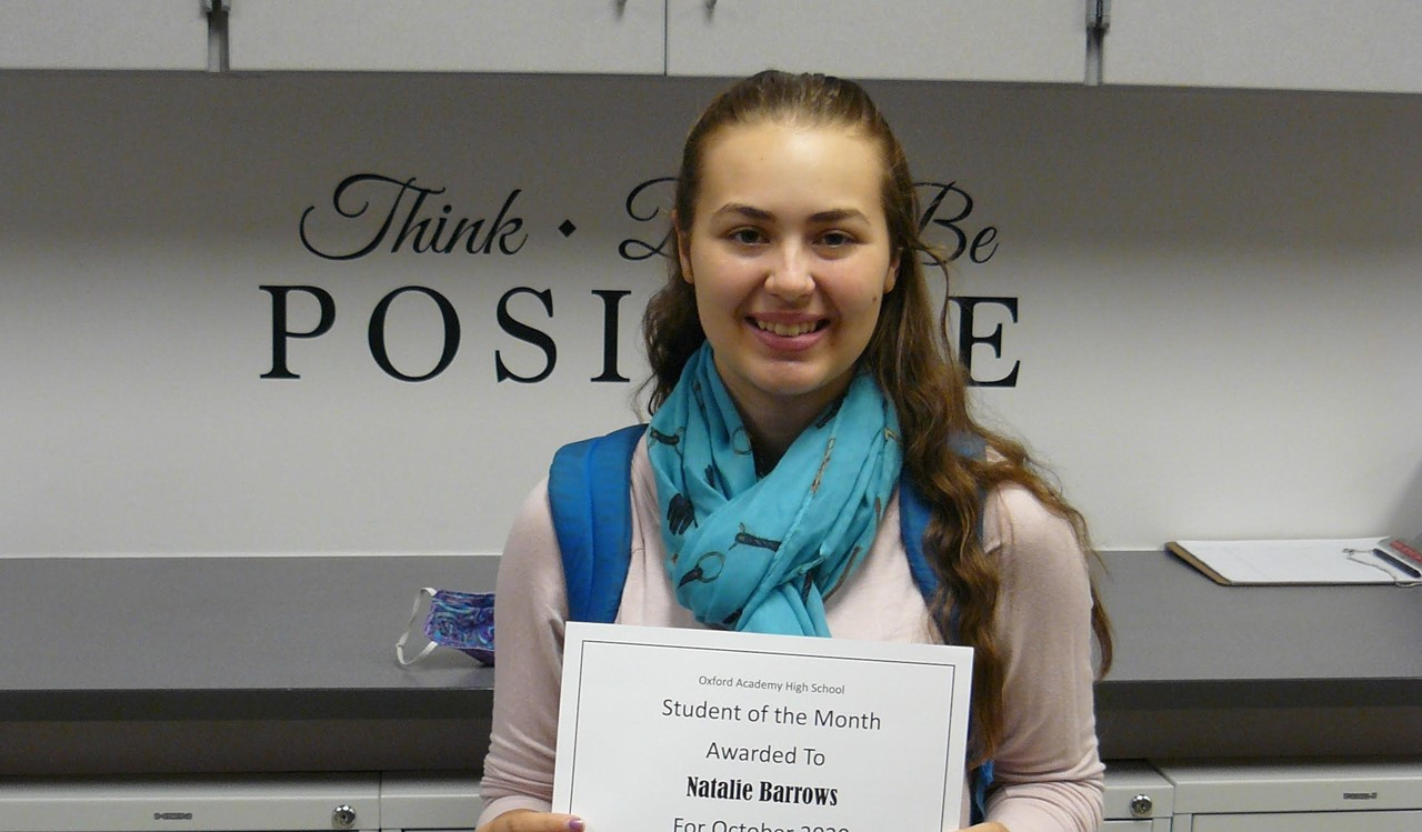 Female student of the month  - October