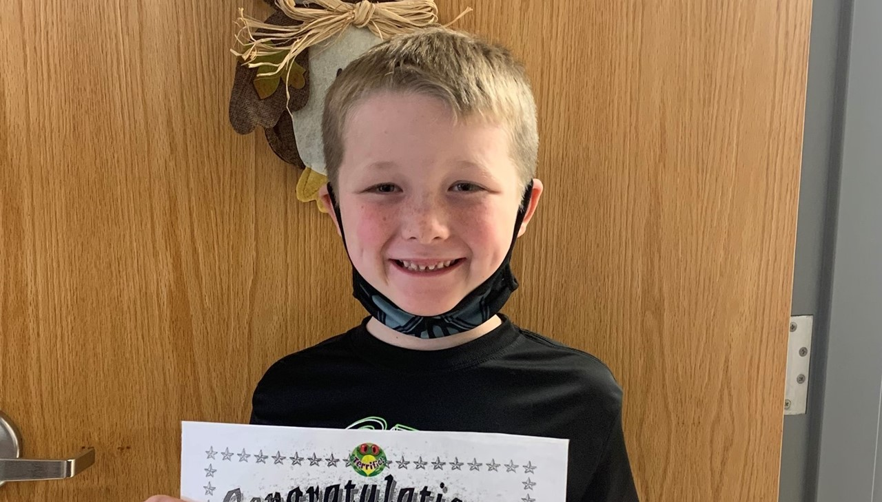 Davis 3rd grade student of the month - october