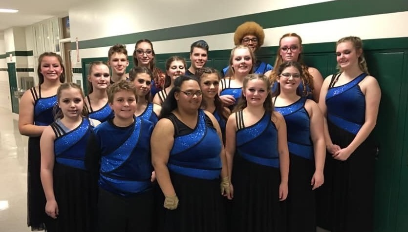 Picture of winterguard team in costume