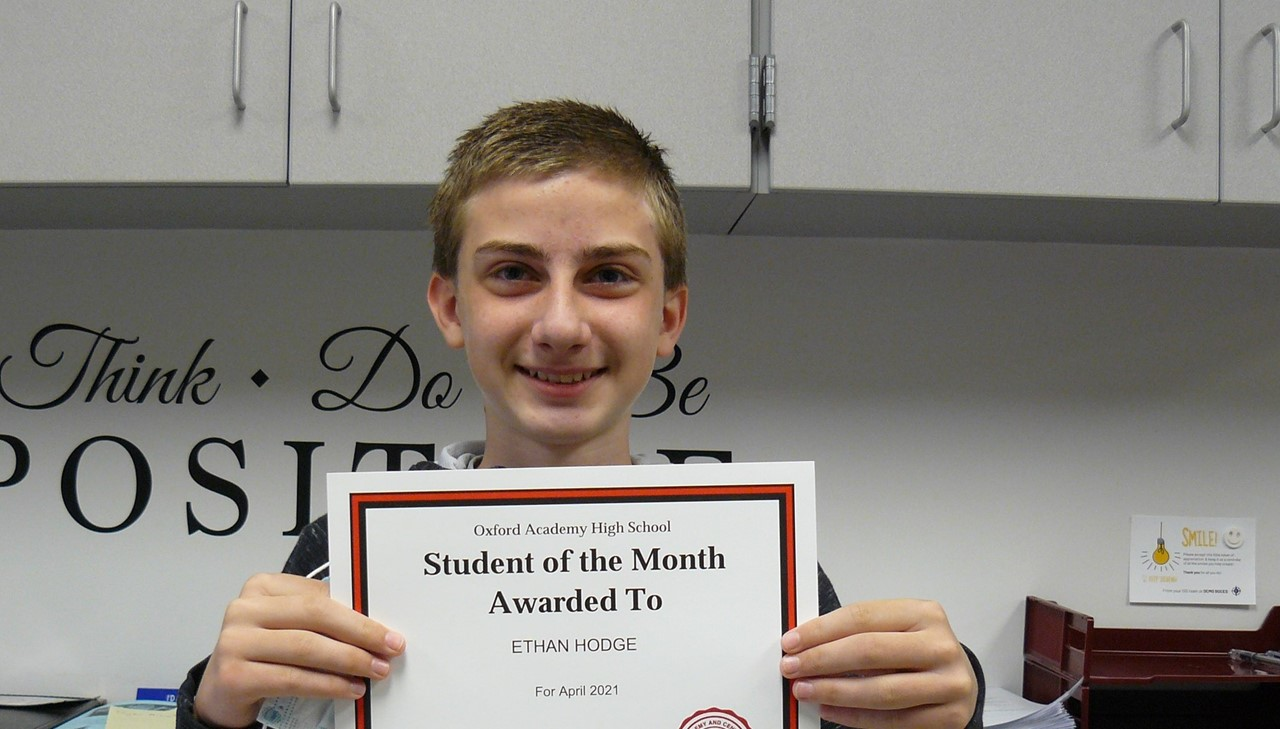 Male student of the month - Hodge