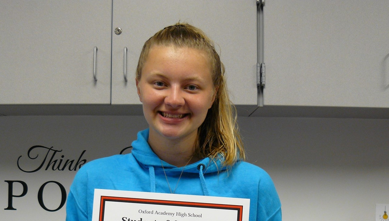 Female student of the month - Miller