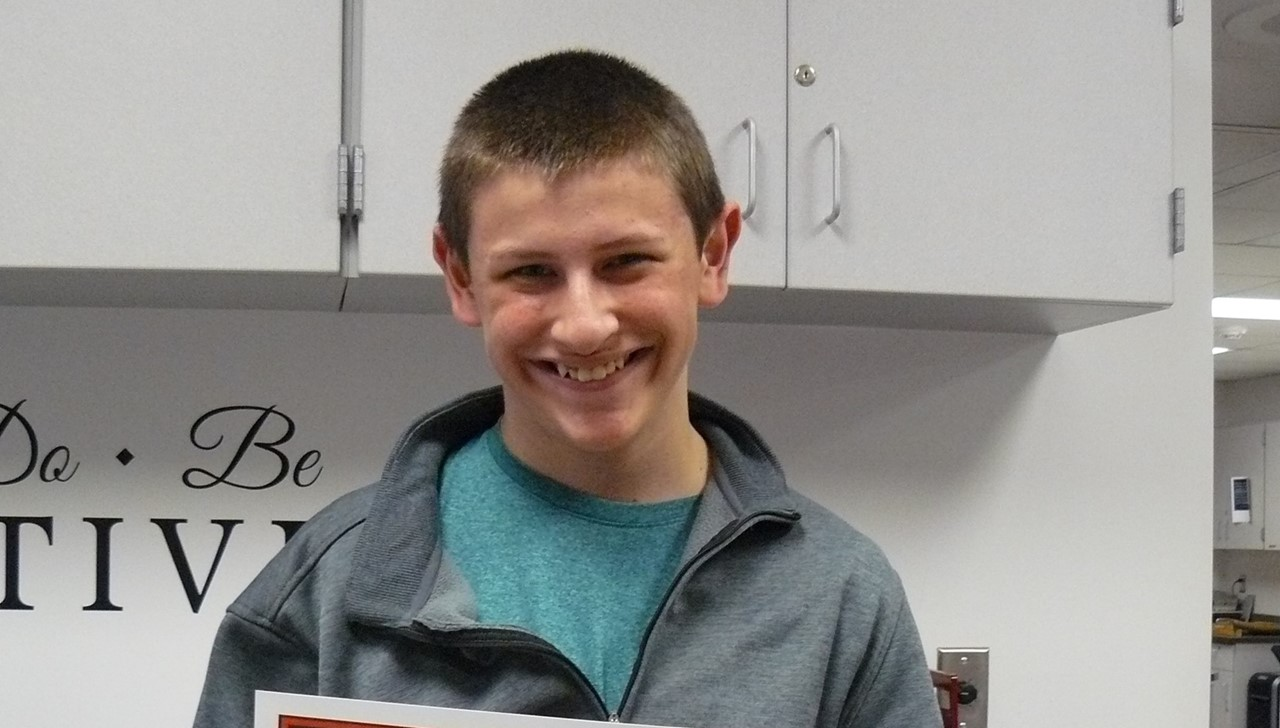 Male student of the month - Russell