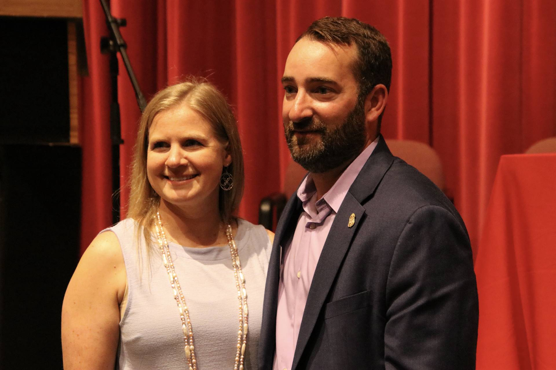 Hall of Distinction Honoree and wife