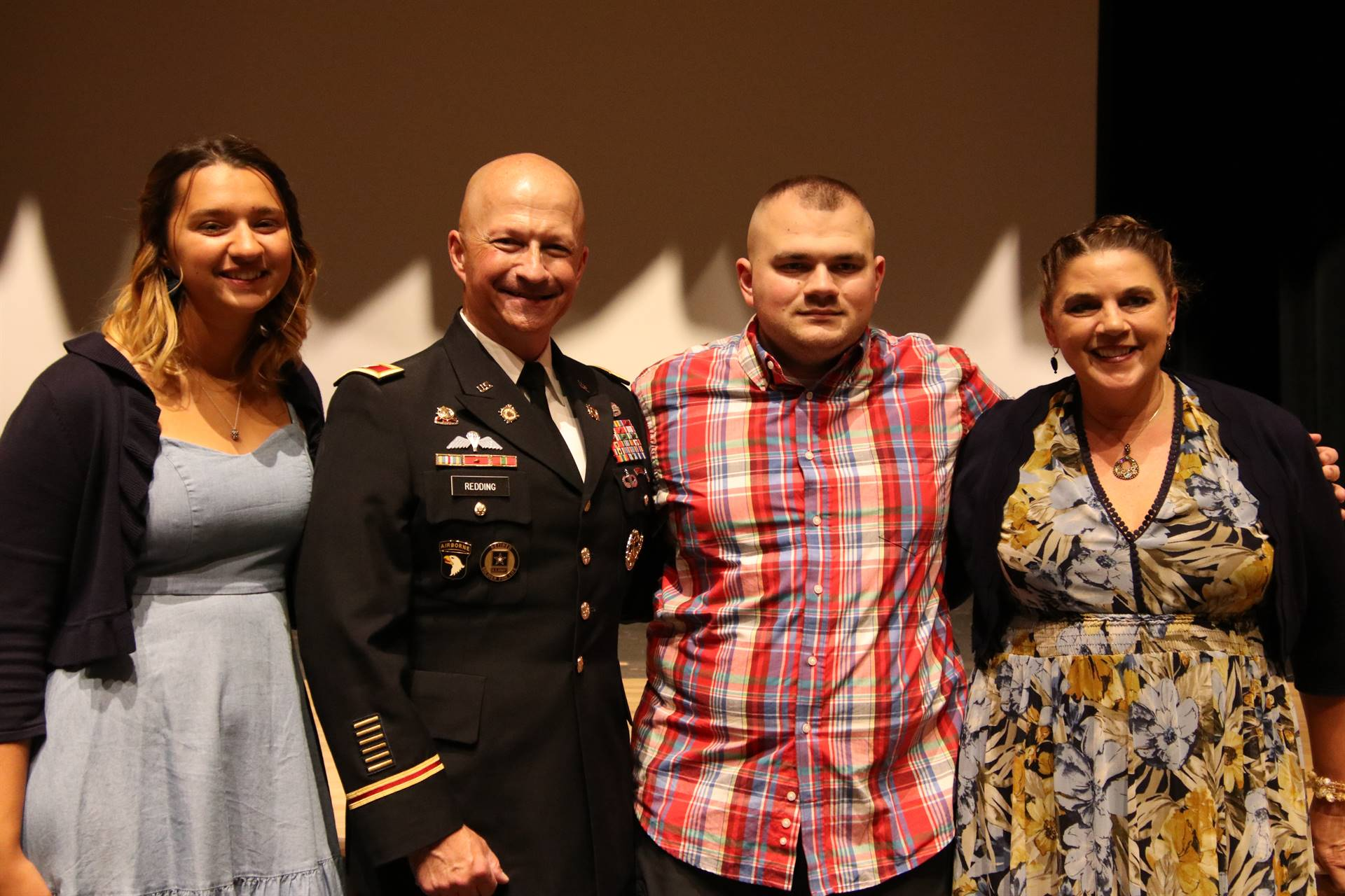 Hall of Distinction honoree - Redding with family