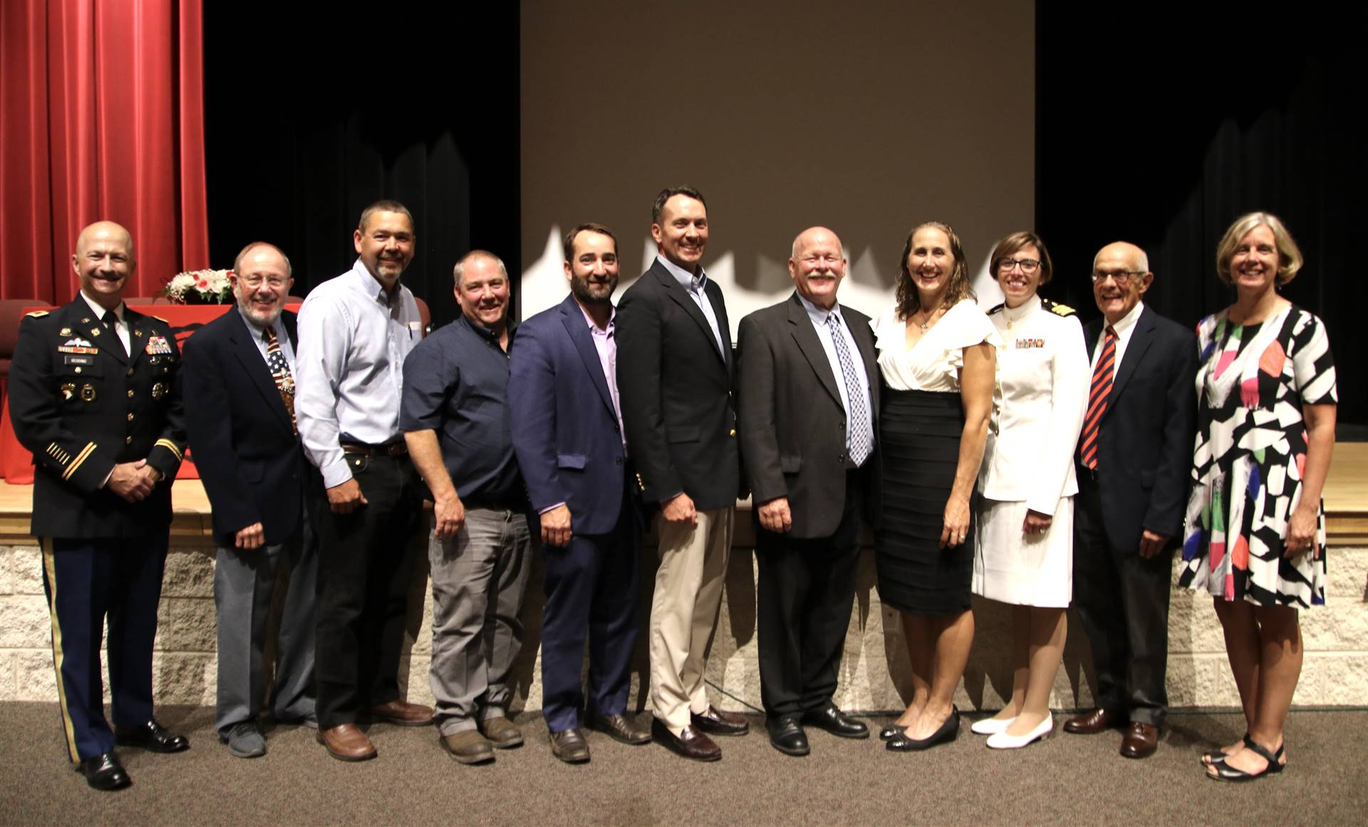 Hall of Distinction honorees and presenters