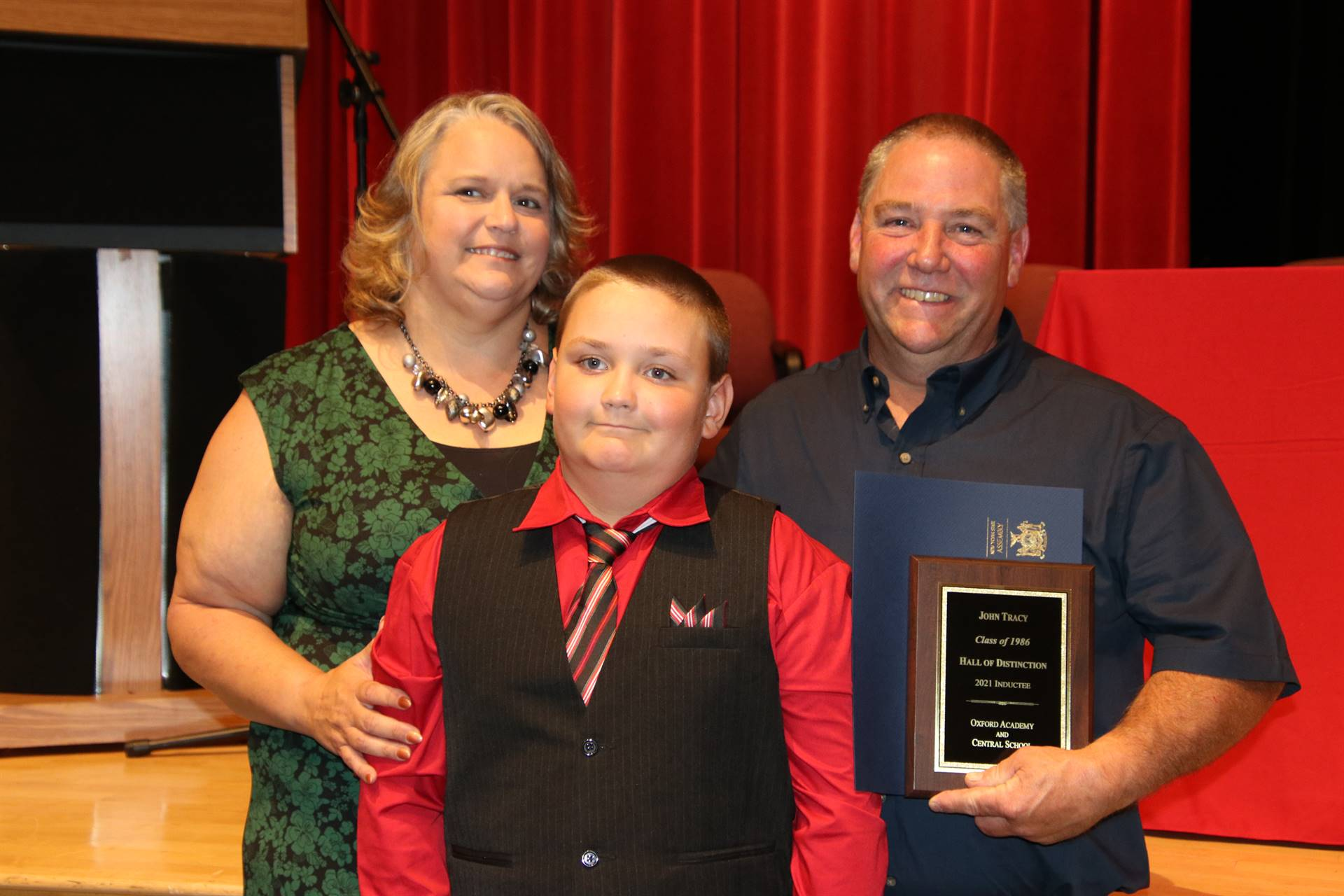 Hall of Distinction honoree Tracy with family
