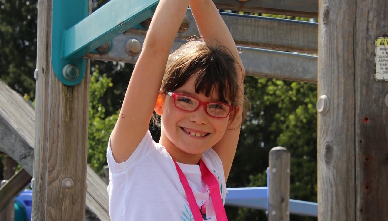 PS student on playground